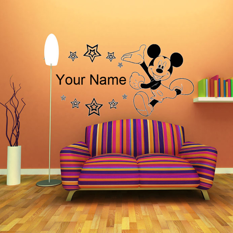 Personalised name with stars boys wall art pegatina wall for Boys wall art