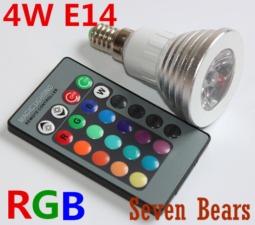 RGB LED lamps 16 Color Change bulb E14 3W Spotlight AC 85V 110V 220V 265V for Home Party Decoration light with IR Remote 1pcs topperr 1133 fts 6e