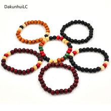 Fashion Natural Wooden Beaded Root Chakra Jewery & Hip Hop Bead Bracelet Buddha Word Jewelry For Men Women gift Special sale(China)