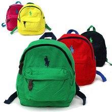 Известный бренд polo рюкзаки для девочек-подростков мальчиков высокое качество холст школьные сумки небольшие рюкзаки рюкзак дети мини