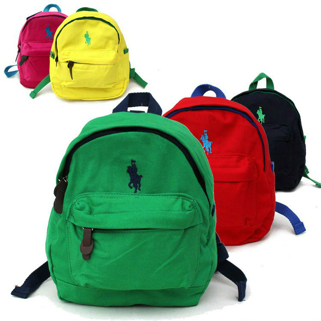 f054aa9866 Famous Brand Polo Backpacks For Teenage Girls Boys High Quality Canvas  School Bags Small Backpacks Harness Backpack Kids Mini