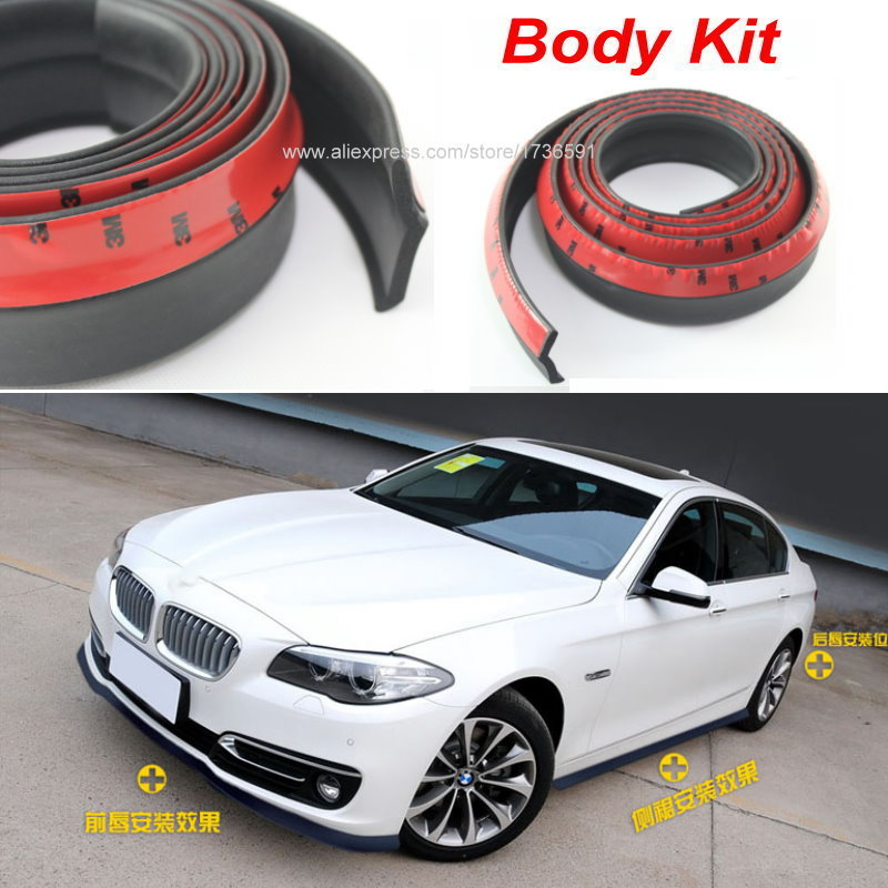 Car Bumper Lip / Body Kit For BMW 3 M3 E30 E36 E46 / Front Tapes / Rear Skirt Spoiler / Deflector Rubber Strip