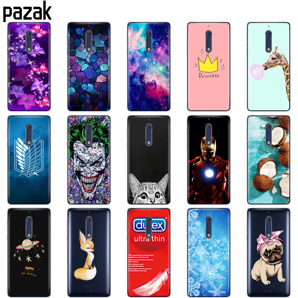 Silicone case for <font><b>Nokia</b></font> 1 2 2.1 3 <font><b>3.1</b></font> 5 5.1 plus 2018 case soft tpu <font><b>back</b></font> phone <font><b>cover</b></font> shockproof Coque bumper housing protective image