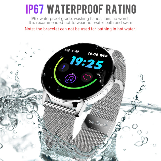 Rundoing Q8 Advanced 1.3 inch color screen fitness tracker smart watch heart rate monitor smartwatch men fashion