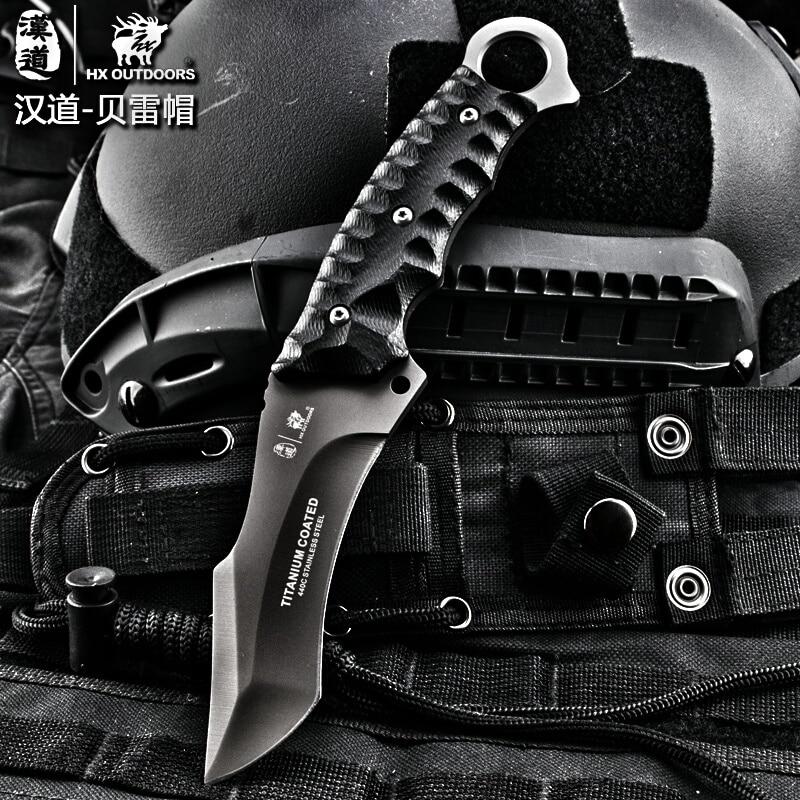 HX OUTDOORS Coltello tattico per esterni Coltello da sopravvivenza da - Utensili manuali - Fotografia 3