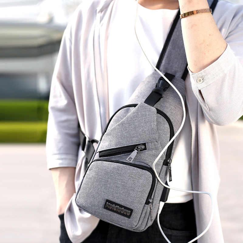 Pacchetto della cassa del sacchetto del sacchetto popolare dei nuovi uomini di tela da viaggio piccola borsa multi-funzionale satchel crossbody borsa a tracolla semplice ragazzi sacchetto di mano
