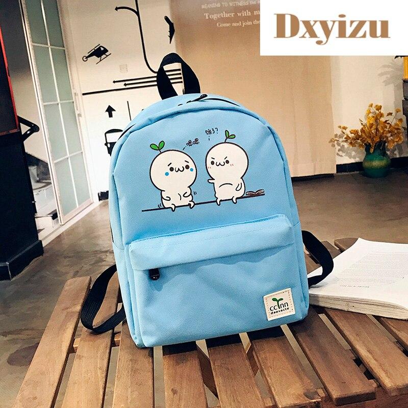 Мода милый характер детские школьные сумки сплошной старшей школы сумки для девочек простой рюкзак для детей школьный рюкзак