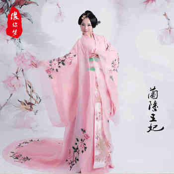 Chinese hanfu Costume embroidered Pink Charming woman Elegent Traditional dress female costume Ancient Princess Wear traje chino