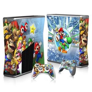 Image 4 - For Super Mario Skin Sticker Decal For Xbox 360 Slim Console and Controllers Skins Stickers for Xbox360 Slim Vinyl