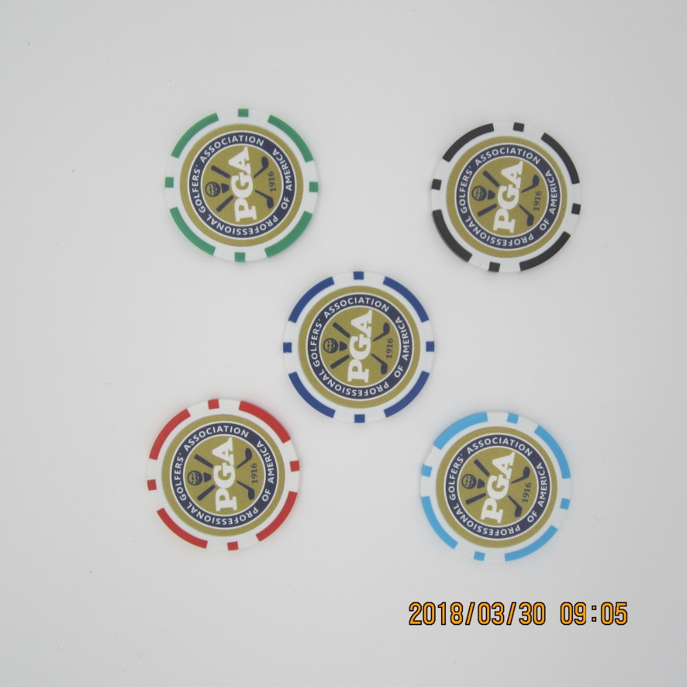 10pc/pack New Design Poker Chip Golf Ball Marker