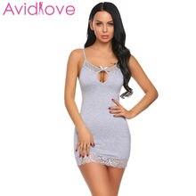 bfebcb858ff Avidlove New Night Dress Women Nighty Sleepwear Sexy Lingerie Babydoll  Chemise Lace-Trimmed Nightwear with