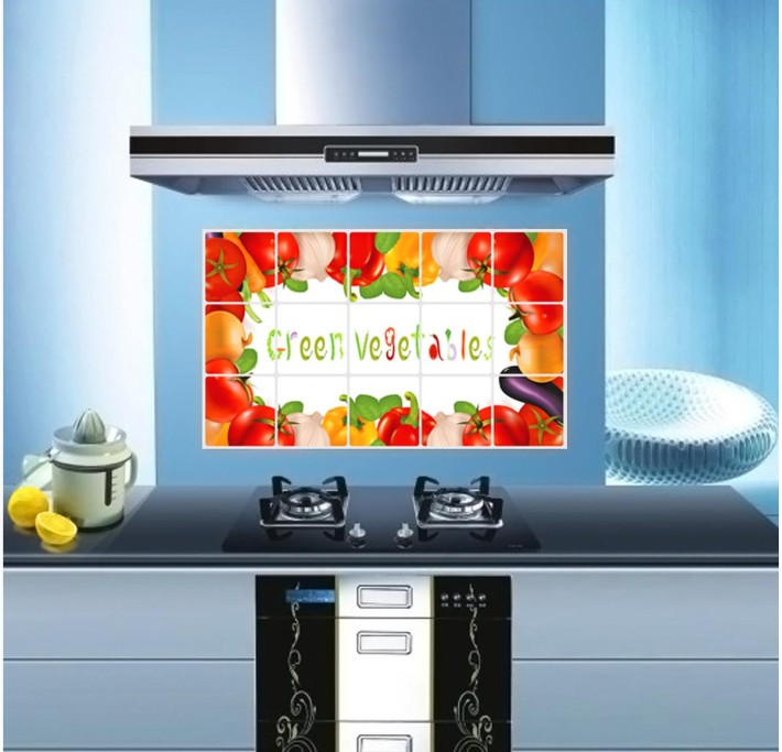 Removable Vegetables Design Kitchen Waterproof And Oil Proof