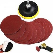 10 шт. 4 дюйма крюк петли шлифовальный Backer Pad шлифовальный диск Sander& Хвостовик с полировочной смеси для производства Гладкой отделки