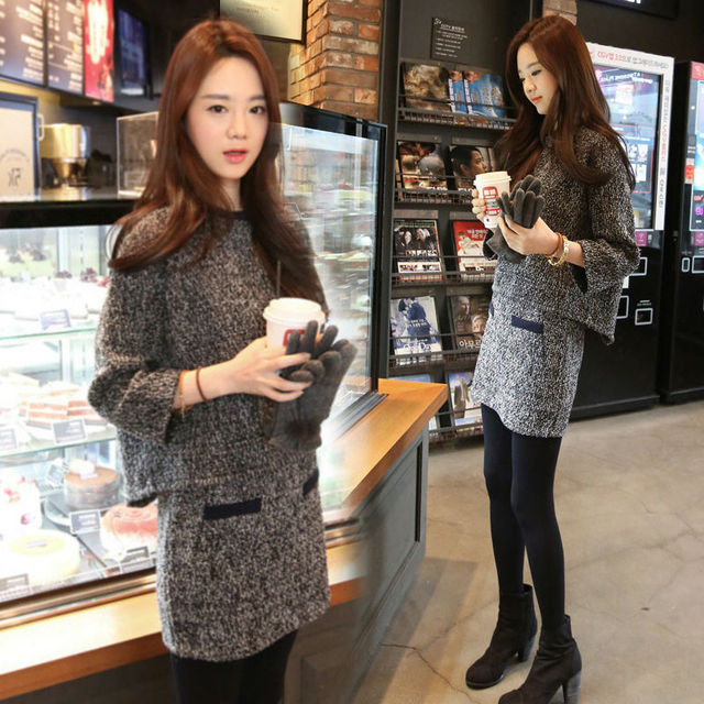 db2e05ecf271 Fashion Women Sweater Skirt Set Spring Autumn Tops+Mini Skirts Europe Slim  Long Sleeve Knitted Suit Twinset Women Clothing