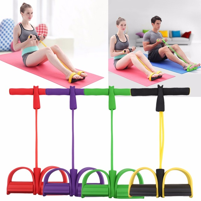 Fitness Resistance Band Pedal Exerciser Rope Tube Elastic Latex Pedal Pull Ropes Exercise Equipment Women Yoga Pilates Workout