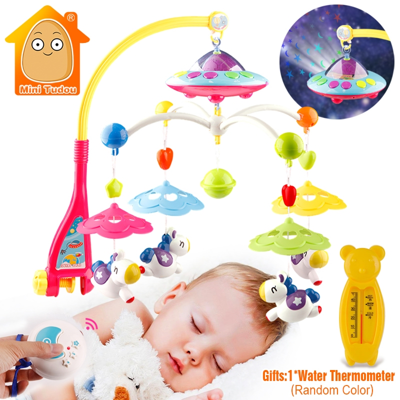 Baby Crib Toy 0-12 Months For Newborn Mobile Musical Box Bed Bell With Animal Rattles Early Learning Kids Educational Toys songs rotary baby mobile bell toys battery operated music box with 128mb sd card crib bed stroller musical toys for newborn