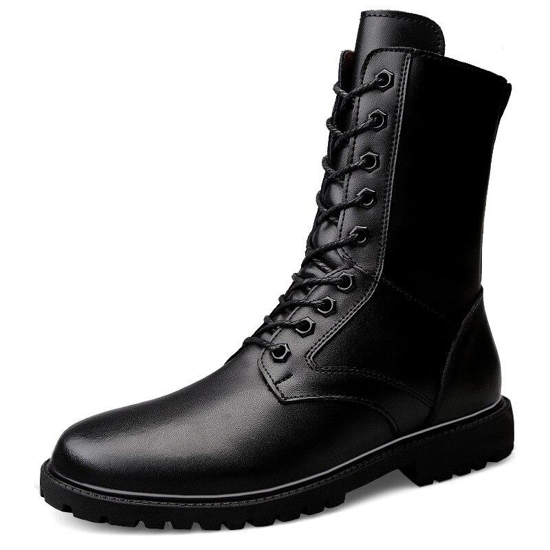 Hommes bottes de randonnée 2018 nouvelle haute qualité en cuir de vachette bottes tactiques en plein air anti-dérapant fitness exercice baskets grands size52