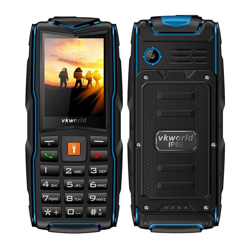 D'origine VKWORLD NOUVELLE PIERRE V3 Cellulaire Téléphone 3000 mah 2MP Caméra IP68 Étanche À La Poussière Dropproof Triple SIM Mobile Téléphone