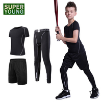 Compression Men's Sports Jogging Suits Kids Boys Running Tights Outdoor Clothes Children Training Gym Fitness Wear Clothing Sets