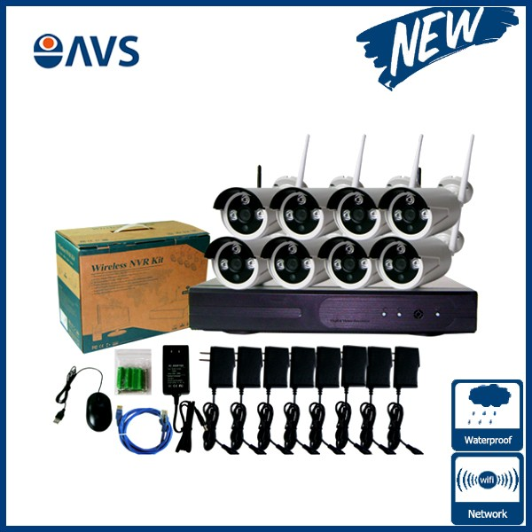 8 Channel 960P IP Wireless NVR Kits CCTV Surveillance Camera System Support 4TB HDD P2P Function8 Channel 960P IP Wireless NVR Kits CCTV Surveillance Camera System Support 4TB HDD P2P Function
