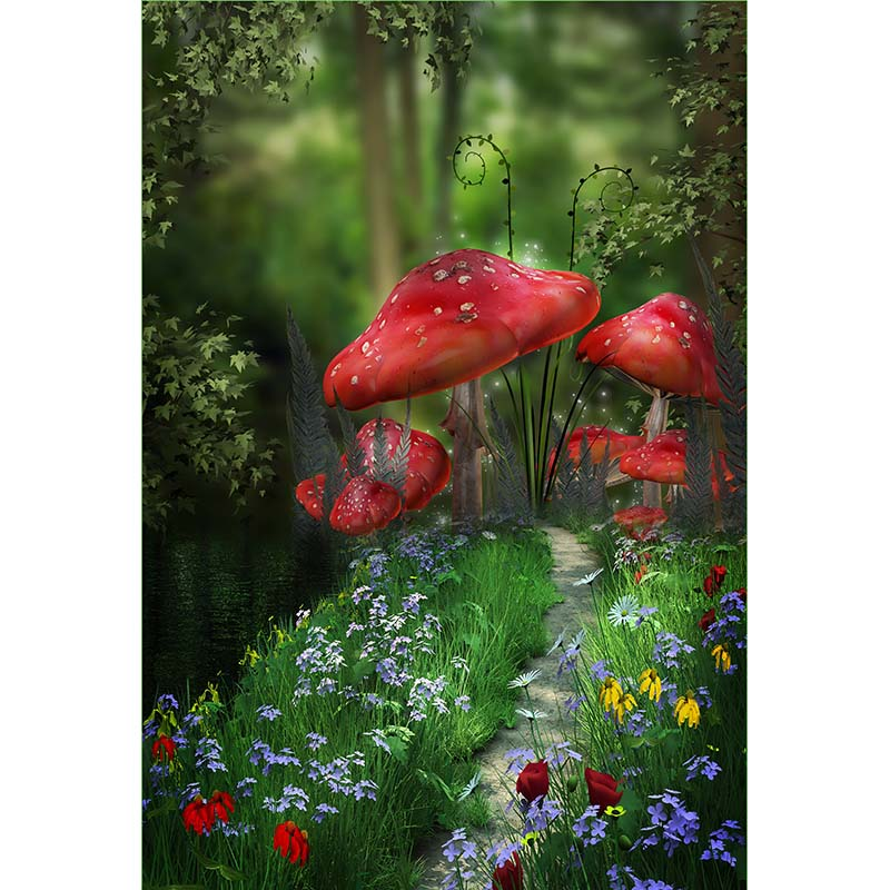 Red mushroom kids photo backgrounds fairy land photography backdrops for photo studio photography background camera fotografica ashanks photography backdrops 1 8 2 8m solid background for photo studio 6ft 9ft backdrop for camera fotografica