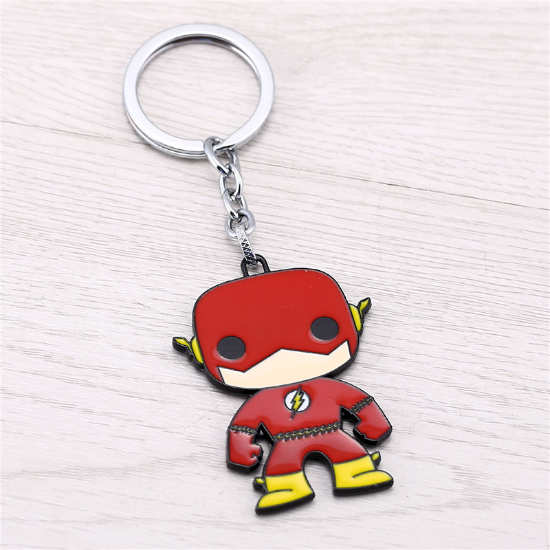 J Store for The Flash Cartoon Super Hero Zinc Alloy Keychain Women - Fashion Jewelry