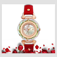 Melissa Women Luxury Faceted Crystal Case Jewelry Watches Super Fashion Rhinestone Watch Quartz Japan Leather Montre Femme Reloj
