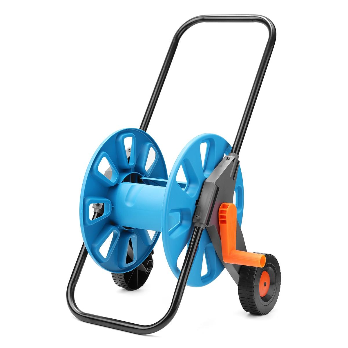Blue Portable Garden Water Hose Pipe Rack Garden Watering Trolley ...