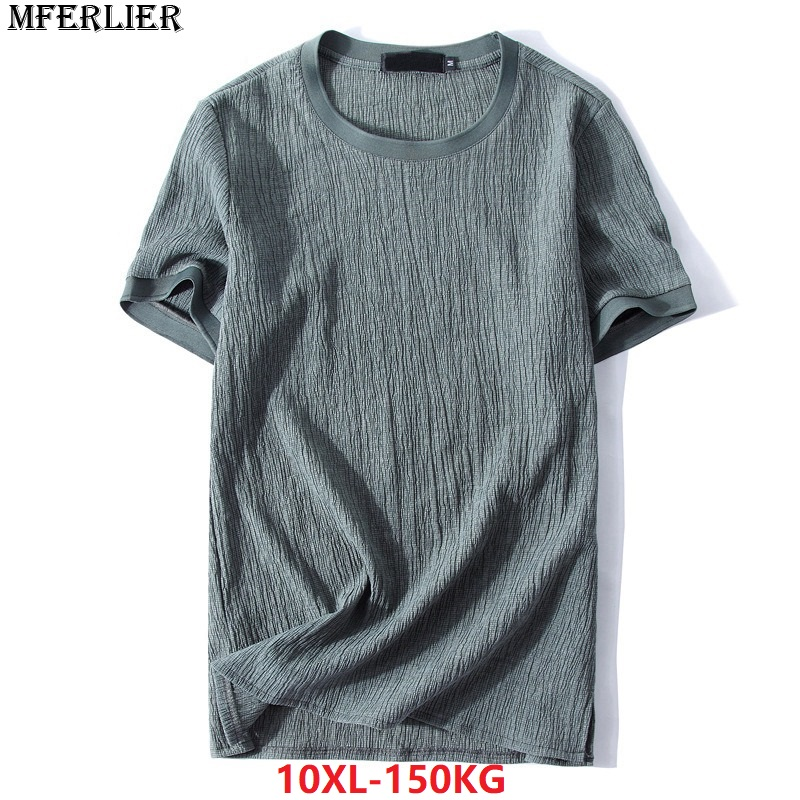 MFERLIER summer 2018 men   T  -  shirts   9XL 10XL cotton short sleeve plus size big larger 7XL 8XL   t  -  shirt   simple Vintage black thin