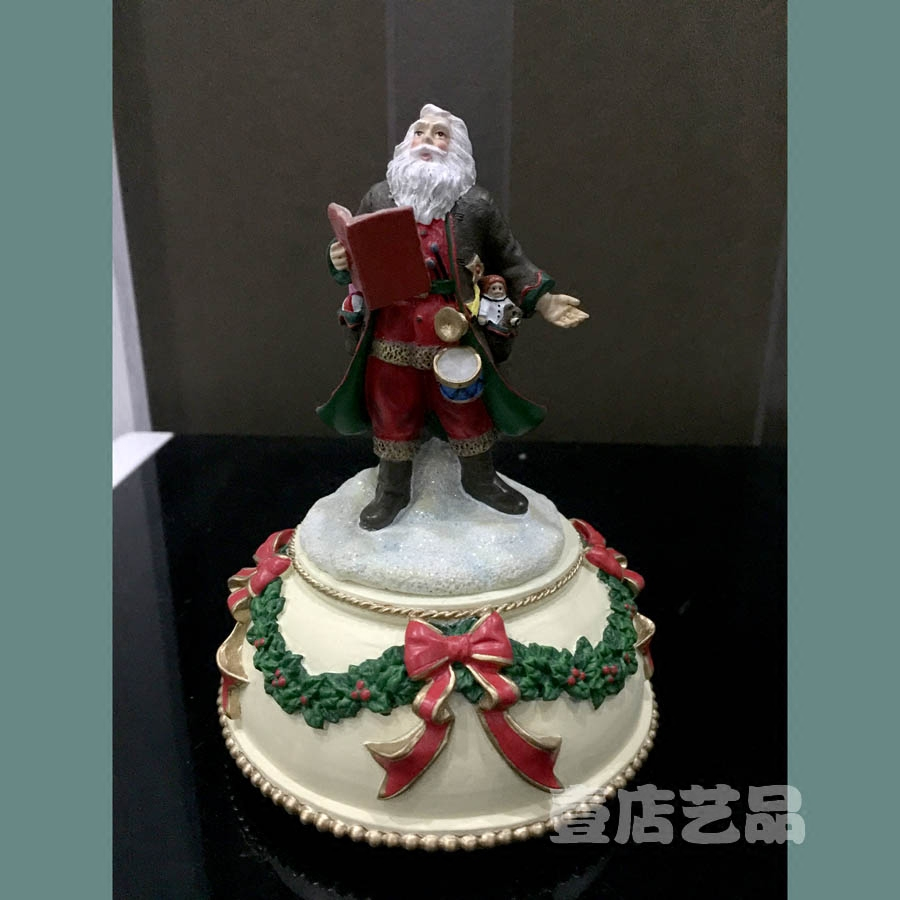 American Traditional Santa Claus Sing Song Music Church Ornament ...
