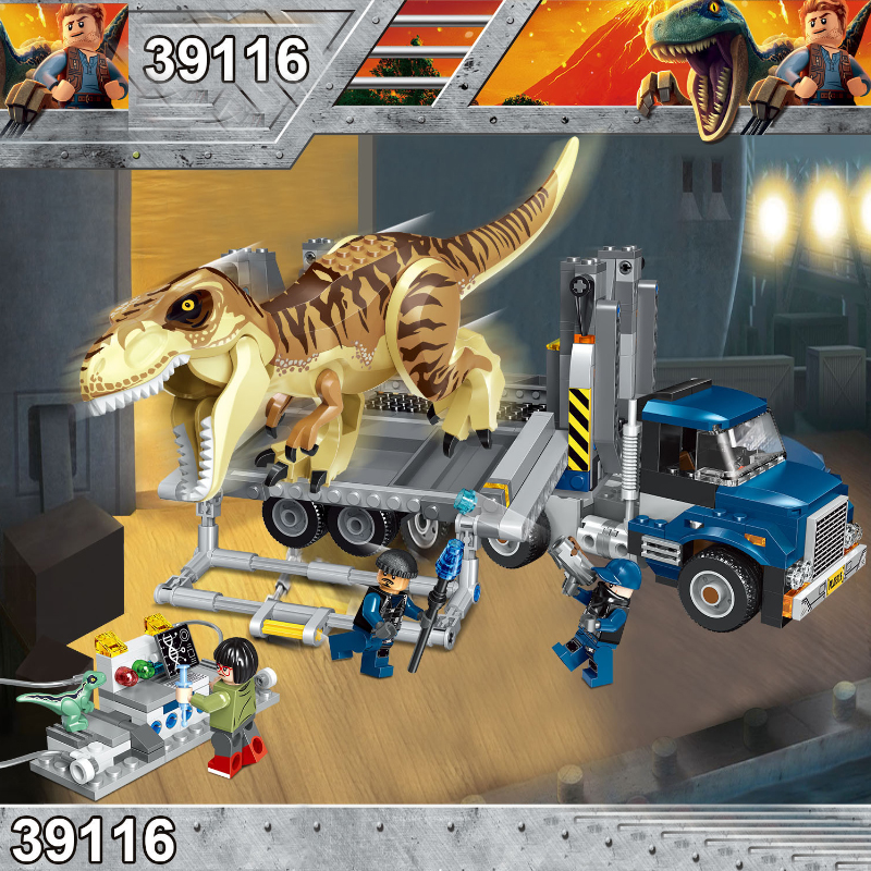 Jurassic World 2 Park Dinosaurs Tyrannosaurs Rex Carnotaurus Indoraptor Building Blocks Figures Toys Compatible With lego f10 carbon fiber m4 style spoiler rear trunk lip wings for bmw 5 series f10 m5 2010 2017 520i 523i 525i 528i 535i