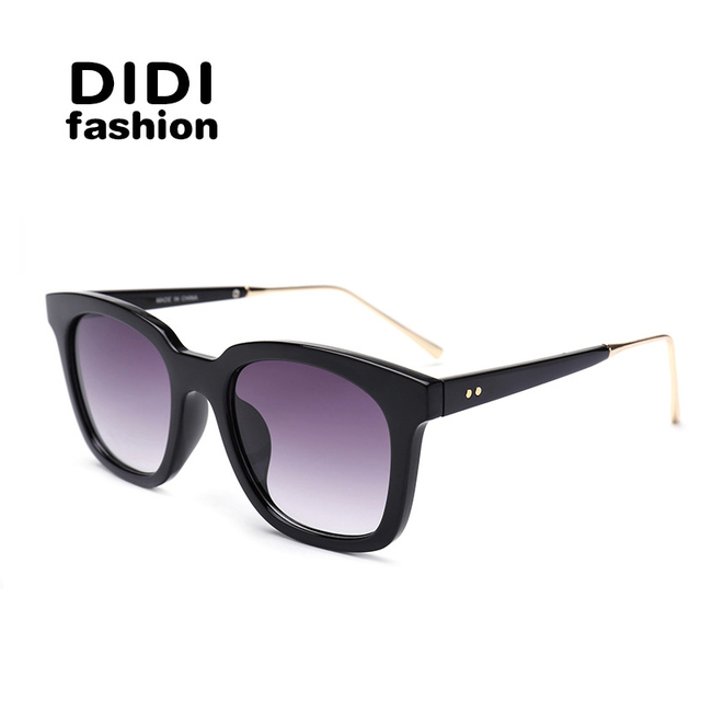 DIDI New Luxury Brand Black Goggle Cat Eye Women Sunglasses Oversized Vintage Men Glasses UV400 Driving Lunette De Soleil W462