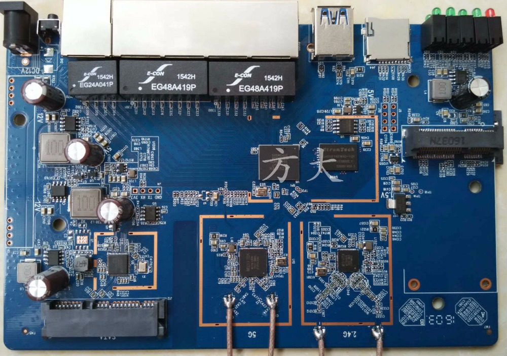 MT7621A+MT7603N+MT7612EN Program Development Board Performance Far Exceeds MT7620A