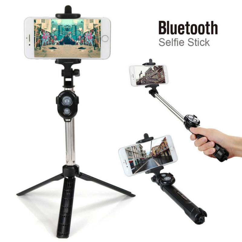 Universal Mobile Phone Bluetooth Selfie Stick Tripod Monopod With Camera Button For IPhone SamSung HuaWei Xiaomi Smartphones