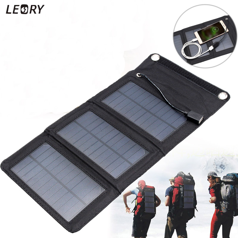 LEORY 5W 5V Sunpower Solar Panel Charger Monocrystalline Portable Solar DIY USB Power Bank Cells Charger For Cellphone Outdoor