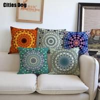 Religious rituals Faith Geometry Mandala Cushion pillow linen printed square 45x45cm decorated pillow cushion