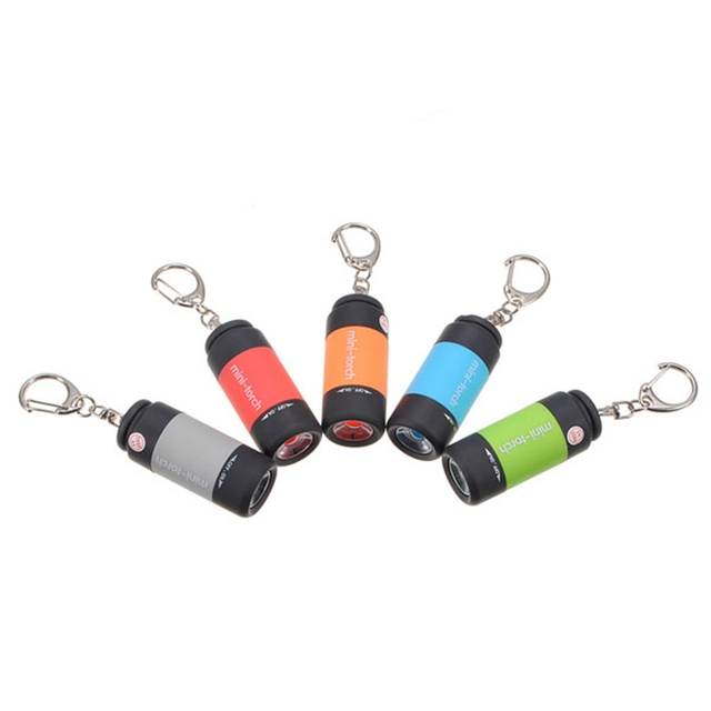 0.3W 25Lm USB Mini LED Keychain Light Lamp Key Chain Rechargeable Flashlight High quality Portable Waterproof Torch