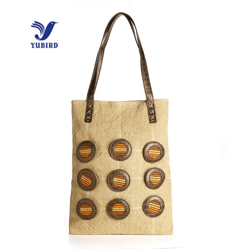 YUBIRD Canvas Tote Zipper Casual Women Big Bag Large Bag Fabric Cloth Ladies Hand Bag Handbags for School bolso grande mujer casual canvas satchel men sling bag