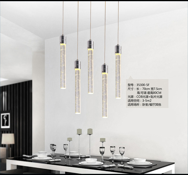 Contemporary Pendant Lights Modern Led Bubble Crystal Light Minimalist Fashion Hanging Creative Dinning Room Bar