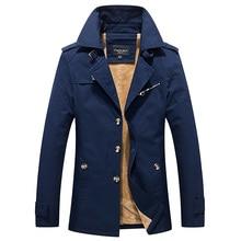 2016 Winterjacke Männer Mantel hight qualität Marke Fleece Warme mode Baumwolle Gepolsterte Mantel GROßE GRÖßE Männliche Kleidung Oberbekleidung Plus 5XL