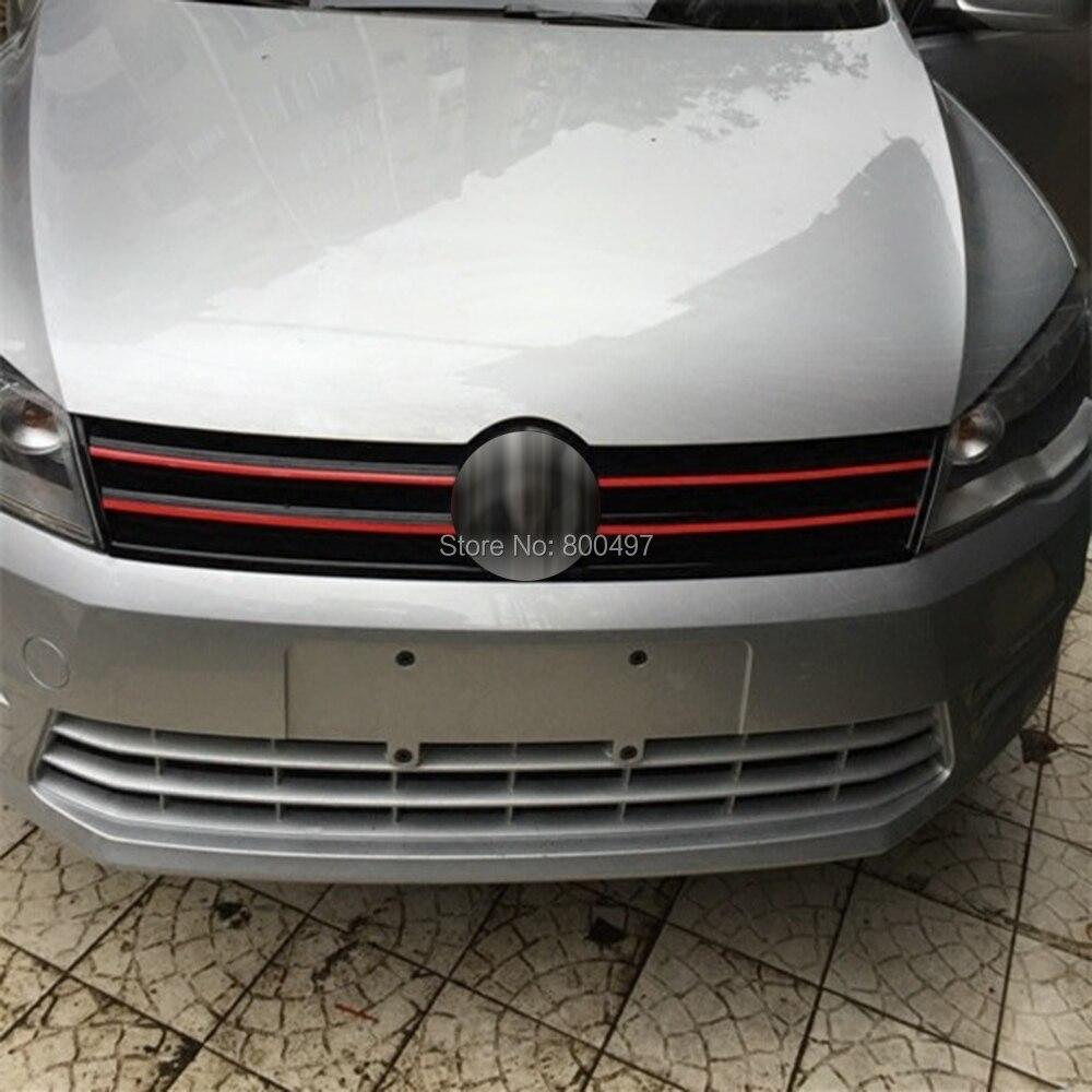 5 x автомобильные наклейки на решетку, автомобильные аксессуары, декоративные красные, черные, синие предупреждающие знаки для Volkswagen VW Golf 6 ...
