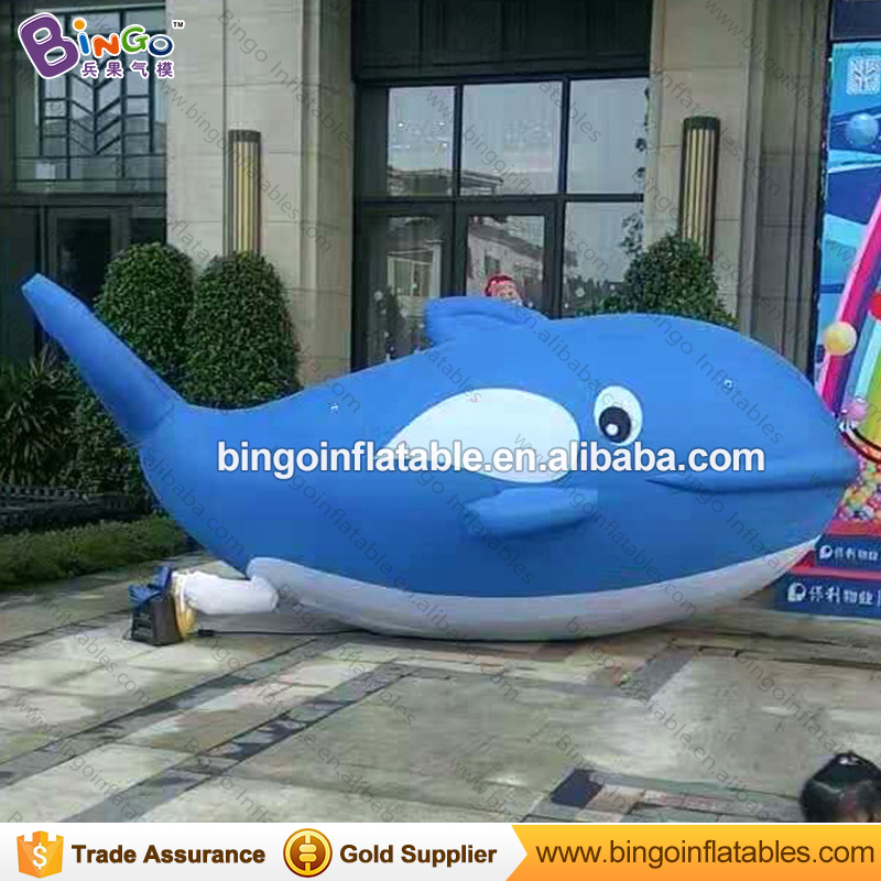 Lovely Dophin Shaped Giant 5m Long Inflatable Dolphin, Advertising Blue Whale for Sale Inflatables Toys advertising inflatables stars for stage