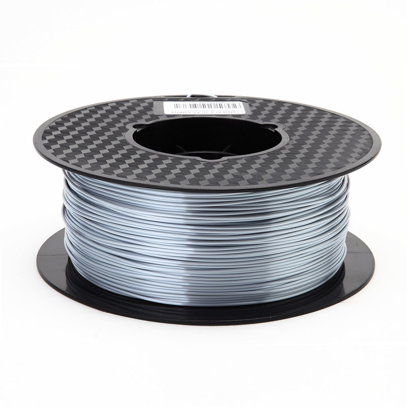 3D printer PLA filament silk silver 1.75mm 1kg 3D SILK PLA material silky silver silk like feel pla pla nanocomposite an overview