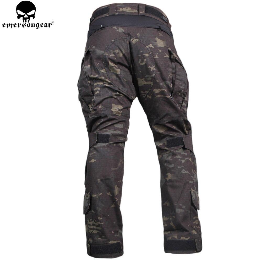 EMERSONGEAR Охота Одежда Боевая брюки с наколенниками Эмерсон Брюки Мультикам Shitr черный тактический камуфляжные штаны G3 форма