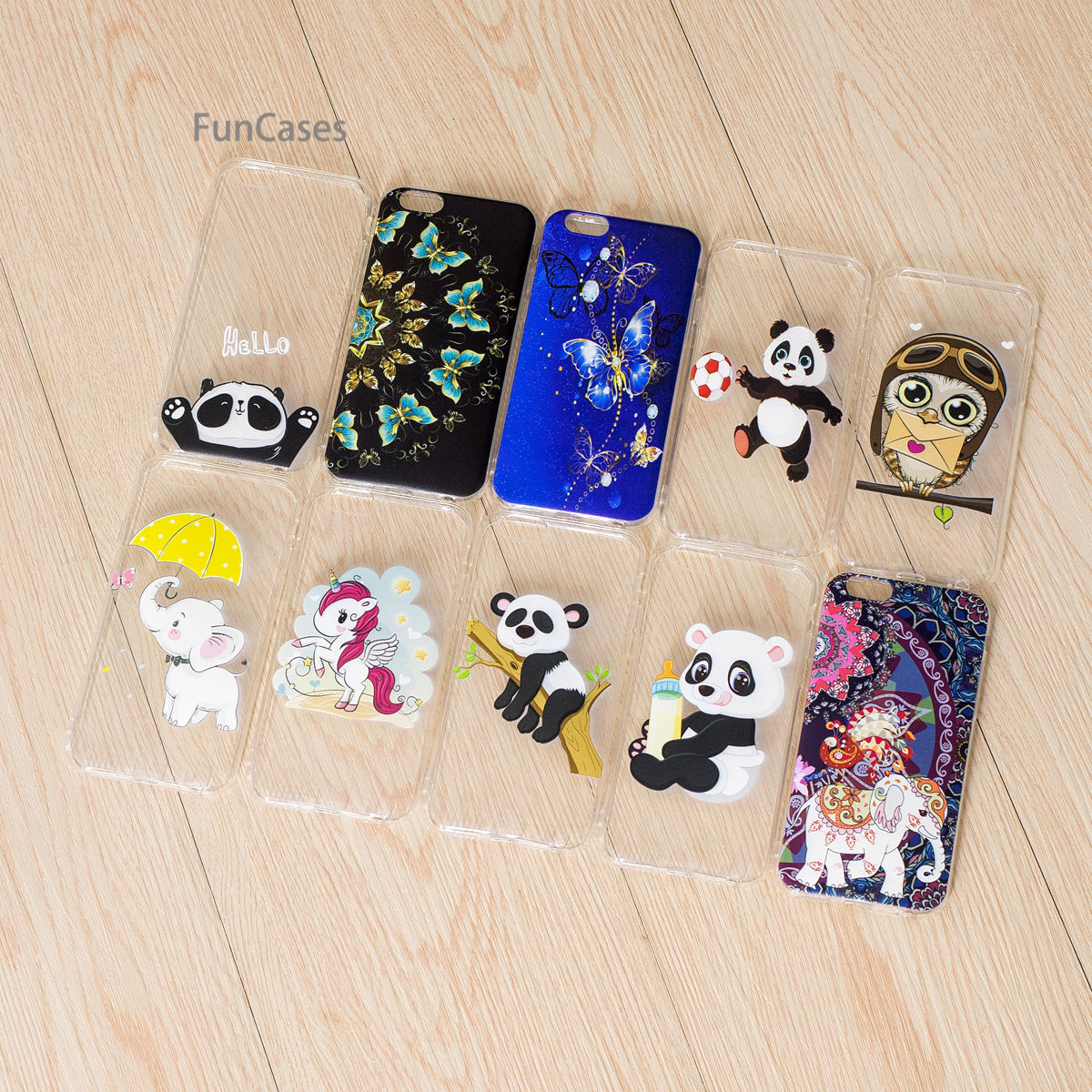 Lovely Elephant Phone Case sFor Etui iPhone 6 Soft TPU Phone Case Phone Floral Phone Accessory For iPhone 6S Fhone Funda Telepon