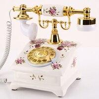 Yuet Flag Authentic Ceramics Antique European Style Antique Telephone Retro Home Fashion Creative Landline Phones Post
