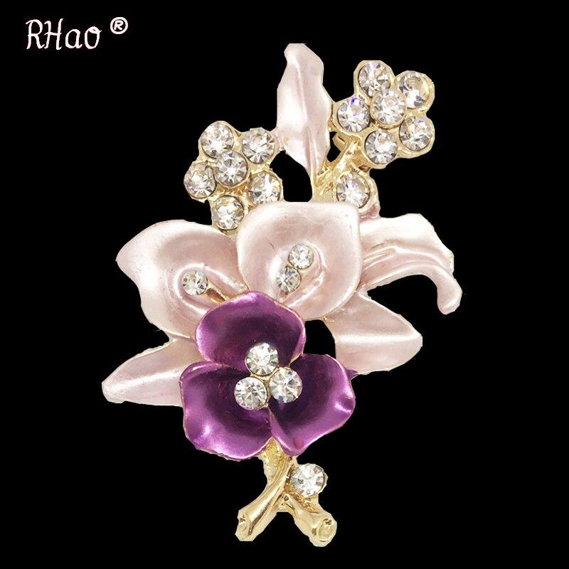 Elegantiškos moterys Drip Crystal Flower sagės smeigtukai - Mados papuošalai - Nuotrauka 4