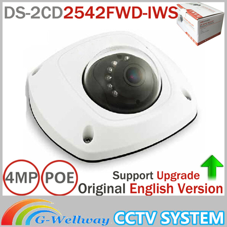 English Version Mini Dome Wireless IP Network Camera DS-2CD2542FWD-IWS Full HD 4MP Built-in Mic Audio Input WDR Support free shipping in stock new arrival english version ds 2cd2142fwd iws 4mp wdr fixed dome with wifi network camera
