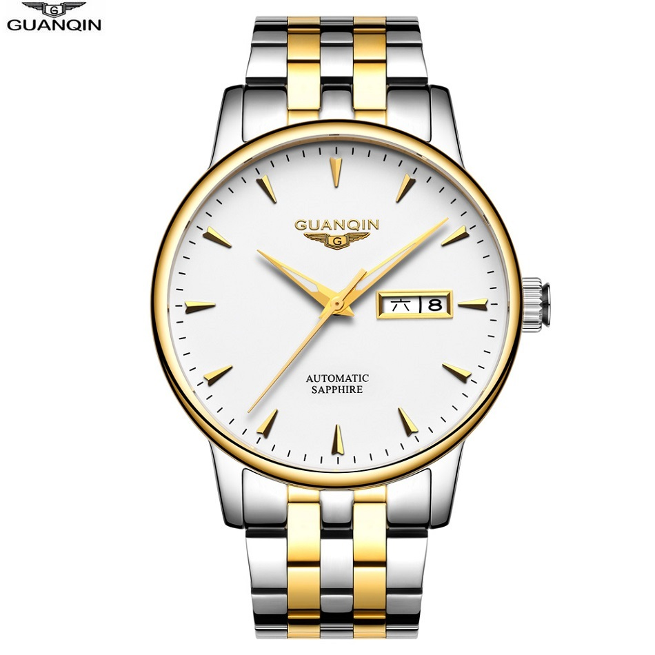 GUANQIN Clock Men Automatic Watch Man Sapphire Calendar Luminous Date Water Resistant Mechanical Watch Men Wristwatch Mens стоимость