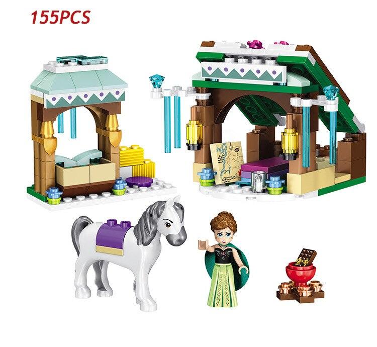 Горячие Сказка история Принцесса Анна зимние приключения строительный блок лошадь цифры кирпичи 41147 Игрушки для девочек Подарки